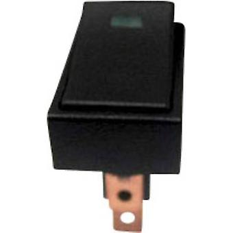 SCI Car toggle switch R13-207L-SQ GREEN 12V/DC 12 Vdc 20 A 1 x Off/On latch 1 pc(s)