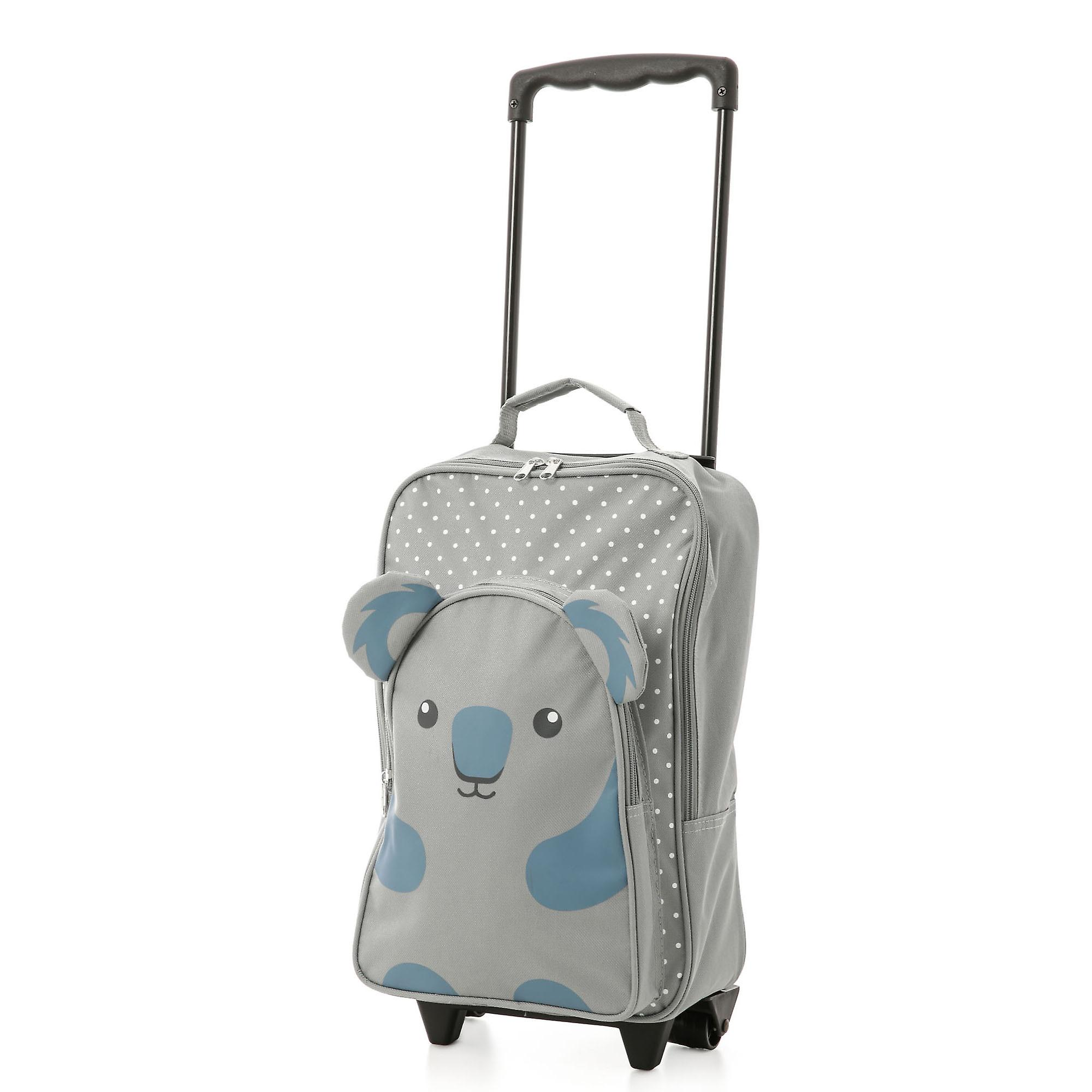Kids Carry on Suitcase Travel Luggage Koala Trolley and Backpack Set