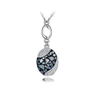 Abalone and white Elements Swarovski Crystal pendant