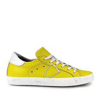 Philippe model ladies CLLDVE39 yellow leather of sneakers