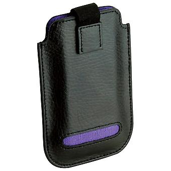 Leather Eclipse iPhone 4/4S Pouch Case Purple
