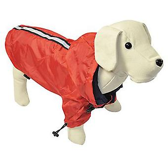 Nayeco Red reflective raincoat for dogs 25 cm