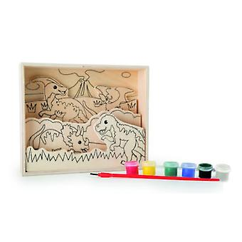 Legler Images Wooden Coloring Dinosaurs