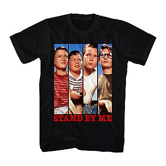 Stand By Me il Cast t-shirt nera maschile pannelli
