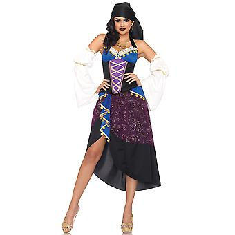 Tarot Card Gypsy Fortune Teller Bohemian Medieval Women Costume