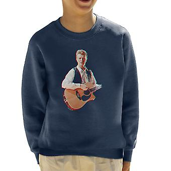 David Bowie At Birmingham NEC 1990 3D Effect Kid's Sweatshirt