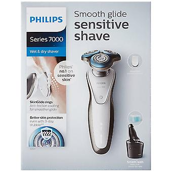 Philips Series 7000 Wet & Dry Men's Electric Shaver S7710/26 with SmartClean system & Precision Trimmer (UK 2-Pin Bathroom Plug)