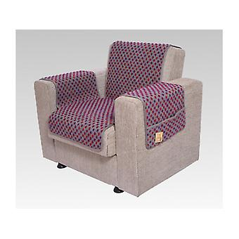 Armrests - and armchair saver set with 2 pockets MALI color: silver coloured wool