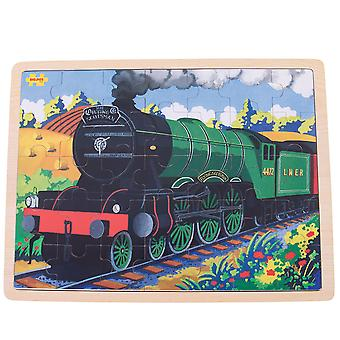 Bigjigs Toys Flying Scotsman Chunky Wooden Tray Jigsaw Puzzle (35 Piece)