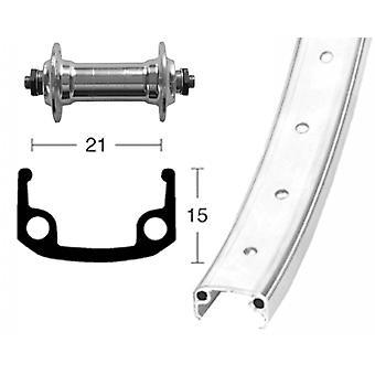 Bike parts 26″ wheel aluminum rim + standard aluminium hub (QR)
