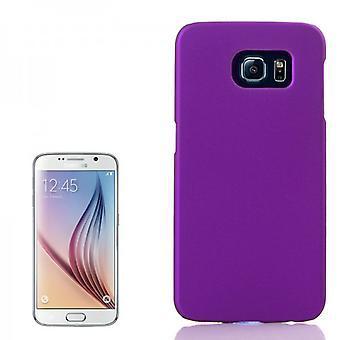 Hardcase Rubber Lila Hülle für Samsung Galaxy S6 G920 G920F