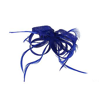 Royal Blue Fascinator on Headband/ Clip-in for Weddings, Races and Occasions-5905