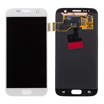 Genuine Samsung White S7 G930 LCD Assembly Service Pack