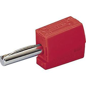 Jack plug Plug, straight Pin diameter: 4 mm Red WAGO 1 pc(s)