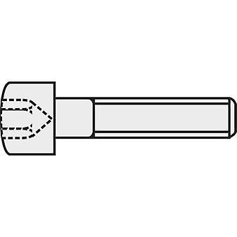 TOOLCRAFT 888023 Allen screws M1.6 6 mm Hex socket (Allen) DIN 912 ISO 4762 Steel 8.8. grade black 1 pc(s)