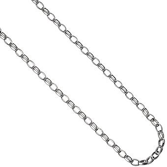 Round Anker chain 925 Silver 6.2 mm 45 cm necklace chain silver chain carabiner