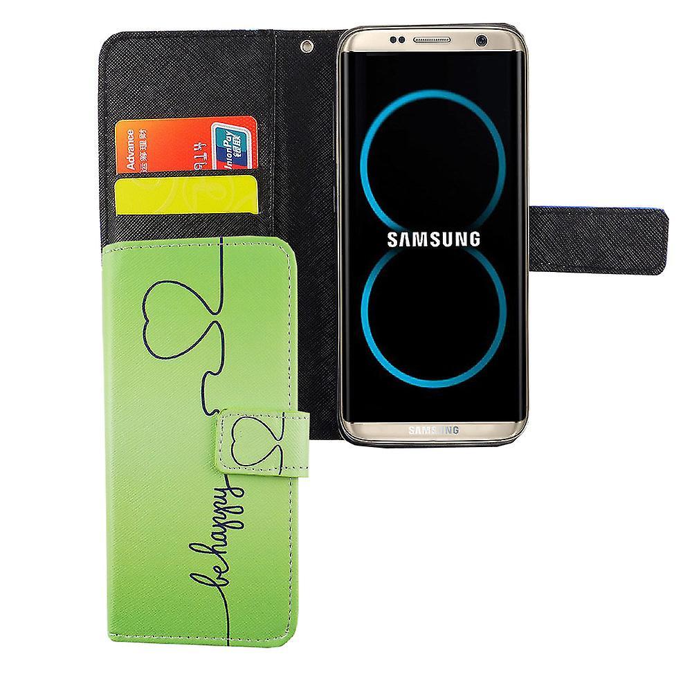 携帯電話ケース ポーチ携帯電話サムスン銀河 s8 がハッピー グリーン