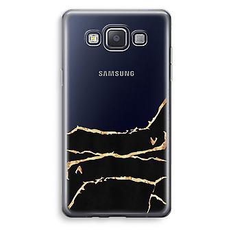 Samsung Galaxy A3 (2015) Transparent Case (Soft) - Gold marble