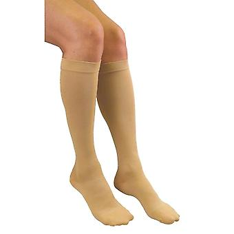 Pebble UK Medical Weight Wide Calf Compression Socks [Style P200W] Beige  M