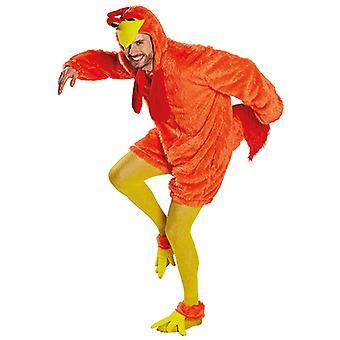 Orange crazy crazy chicken chicken chicken costume tunic costume unisex