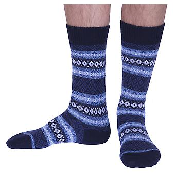 Fenton men's luxury cashmere dress socks in navy | English made by Pantherella