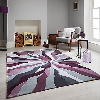 Oändlig Splinter mattor i lila och grått