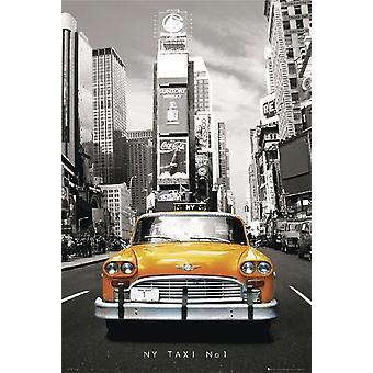 New York taxi taxi taxi giallo, seppia poster No.. 1