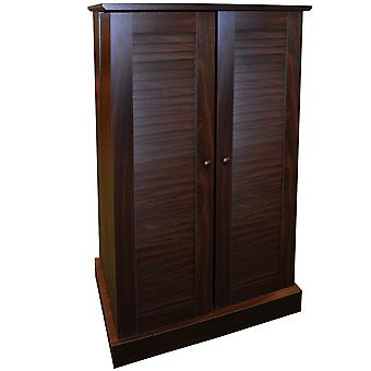 Victoria - 600 Cd / 250 Dvd / Blu-ray Multimedia Storage Cabinet - Walnut