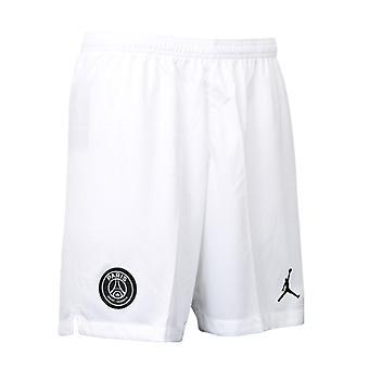 2018-2019 ПСЖ третьего Nike футбольные шорты белый (дети)
