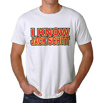 Funny I Know Jack Schitt Graphic Men's White T-shirt