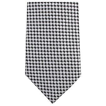 Knightsbridge Krawatten kleines Quadrat Muster Krawatte - schwarz/weiß