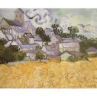 View of Auvers with Church, Vincent Van Gogh, 34x42cm