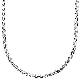 Iced out bling ROUND BOX necklace - 4mm - 90cm