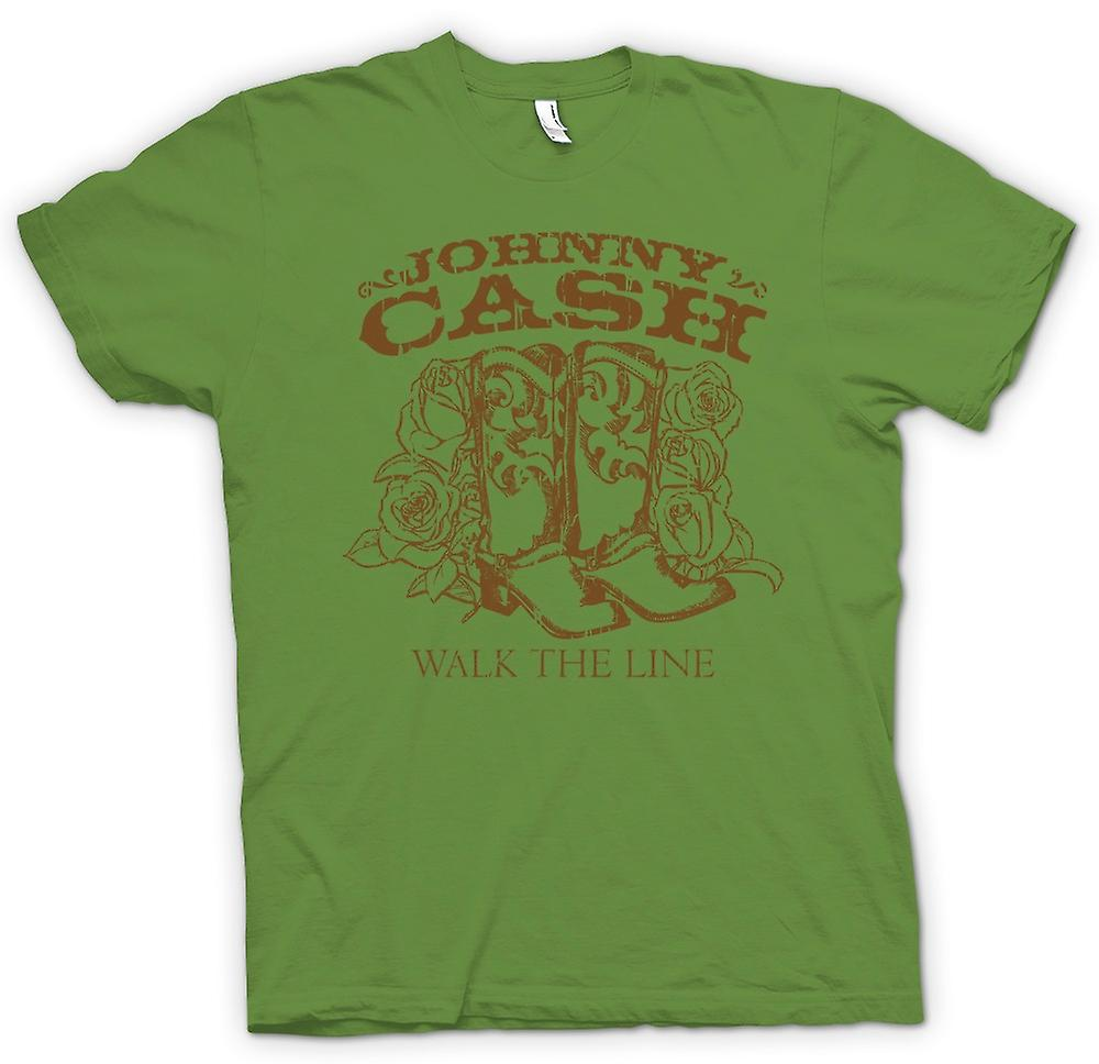 Mens T-shirt - Johnny Cash - Walk The Line