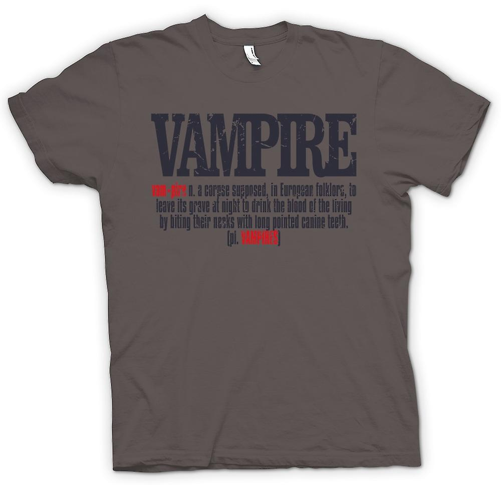 Womens T-shirt - Vampire Definition - Cool Design