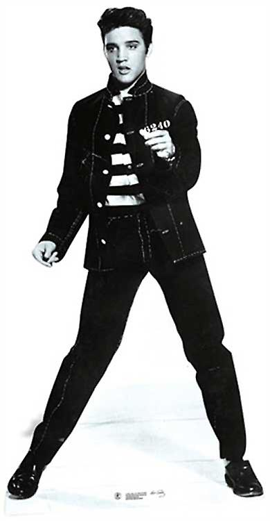 Elvis Jailhouse Rock Lifesize Cardboard Cutout / Standee