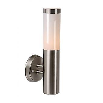 Lucide Kibo Modern Round Metal Satin Chrome Wall Light