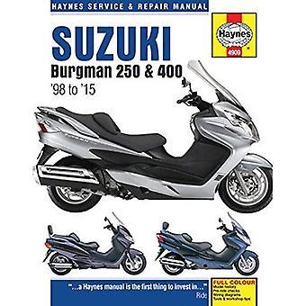 Suzuki Burgman 250 & 400 Service & reparatie handleiding: 1998 2015