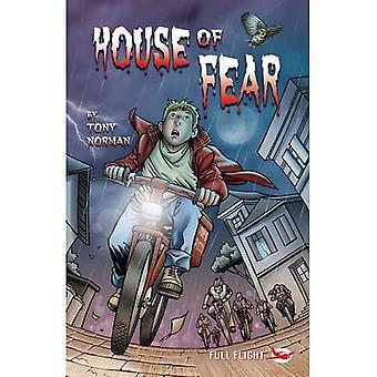 Huis van de angst (volle vlucht met houding)