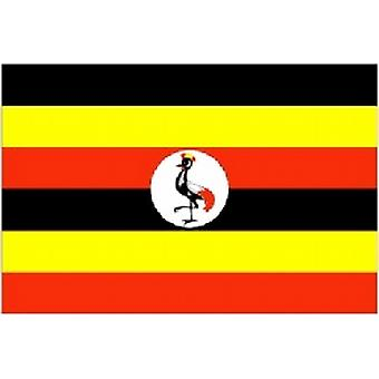 Uganda/Ugandan Flag 5ft x 3ft (100% Polyester)Eyelets For Hanging