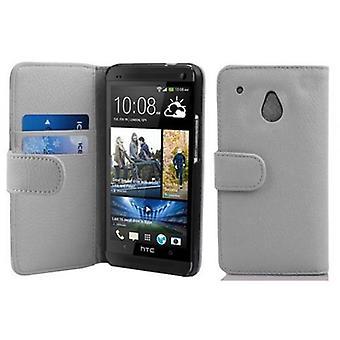 Cadorabo Hülle für HTC ONE M4 MINI -Handyhülle aus strukturiertem Kunstleder mit Standfunktion und Kartenfach – Case Cover Schutzhülle Etui Tasche Book Klapp Style