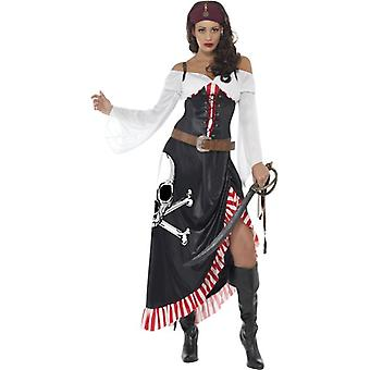 Dame Swashbuckler Pirate Fancy Dress kostume Outfit