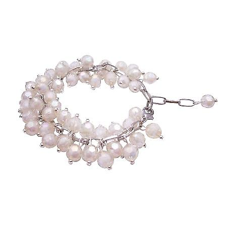 Wedding Bracelet Off White Beads Bracelet Soft Soothing Color