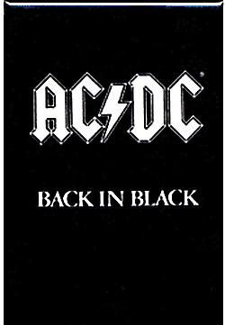 AC/DC Back In Black fridge magnet (cv)