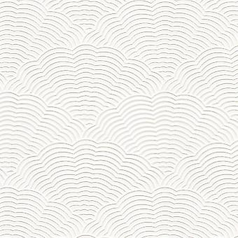 White Blown Vinyl Wallpaper Embossed Textured Paintable Fan Artex