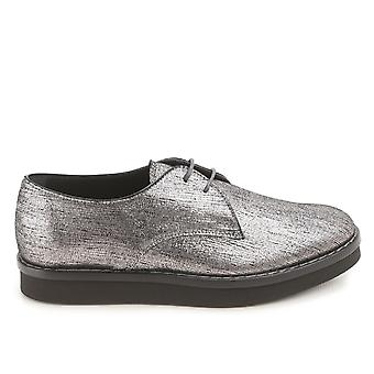 Tod's Silver Leather Lace-up Shoes