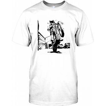 Motorbike Wheelie - Max Throttle Kids T Shirt