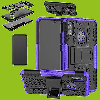 For Huawei P30 Lite hybrid 2 piece SWL outdoor cases bag case cover protective case purple
