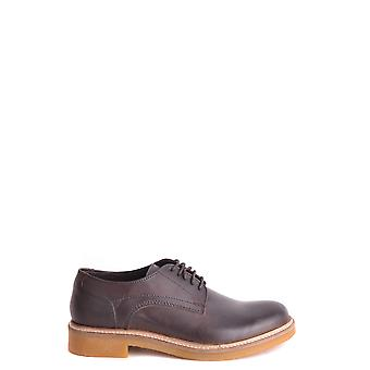 Base London Brown Leather Lace-up Shoes