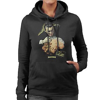 Hammer Dracula Dont Dare See It Alone Poster Women's Hooded Sweatshirt